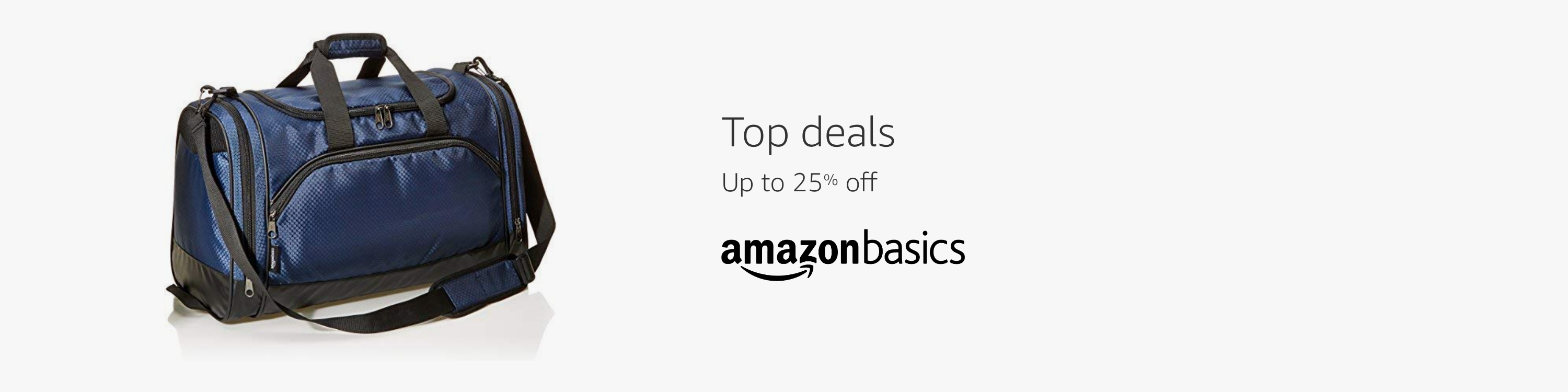 Top deals Up to 25% from AmazonBasics