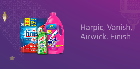 Harpic, Vanish, Airwick, Finish