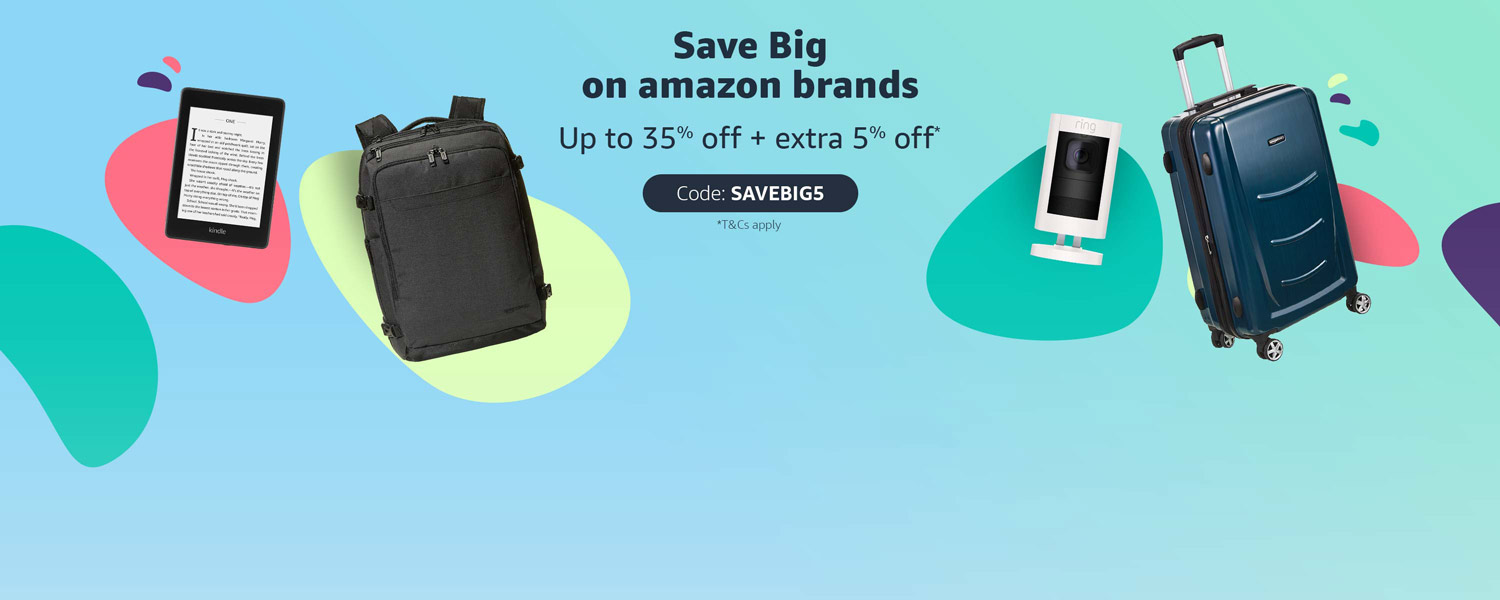 Save Big | Kindle, Ring, AmazonBasics Up to 35% off + extra 5% off with code: SAVEBIG5