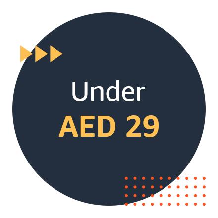 Under AED 29