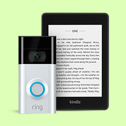Save up to 30% on Kindle and Ring