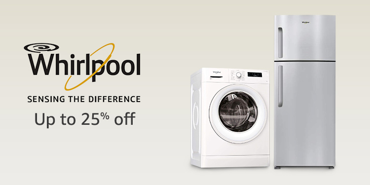 Up to 25% off Whirlpool