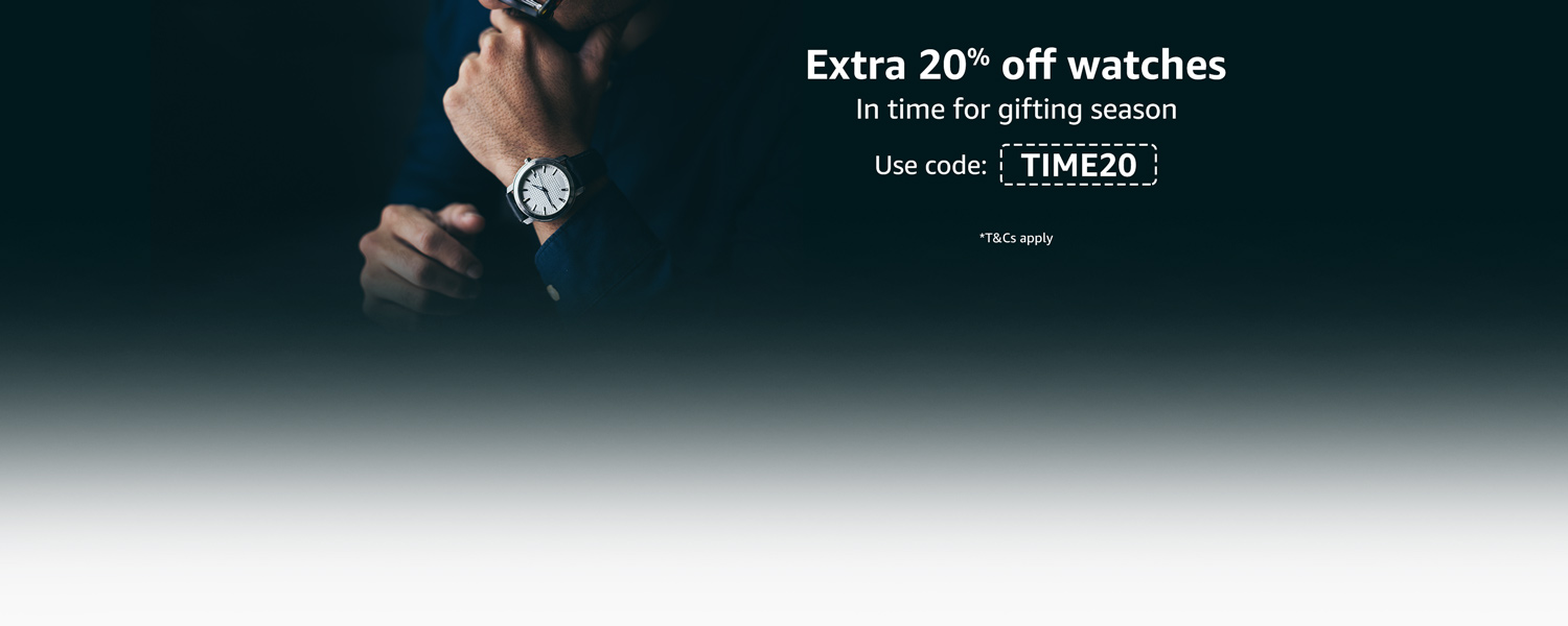 Extra 20% off watches TIME20