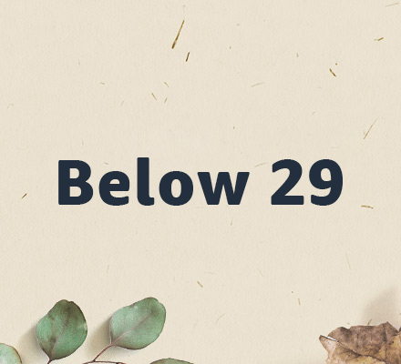 Below 29