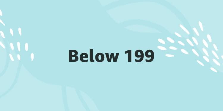 Below 199