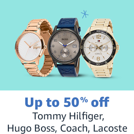Up to 50% off Tommy Hilfiger, Hugo Boss, Coach, Lacoste