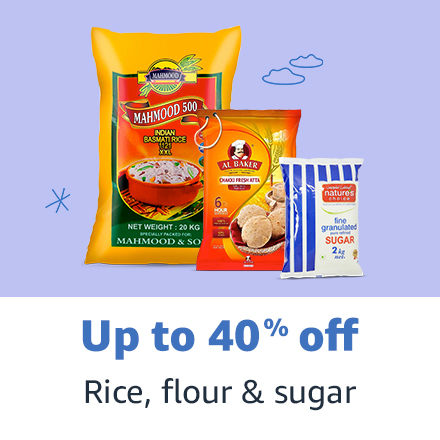 Rice, flour & sugar