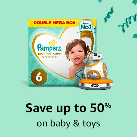Save up to 50% on baby & toys