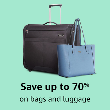 Save up to 70% on bags & luggage