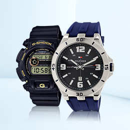 Rubber strap watches