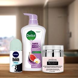 سائل غسل اليدين، جل الاستحمام، كريمات الجسم وأكثر من ذلك | خصم حتى 25%