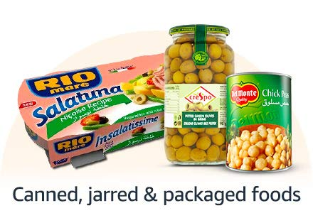 Canned, Jarred & Packaged foods