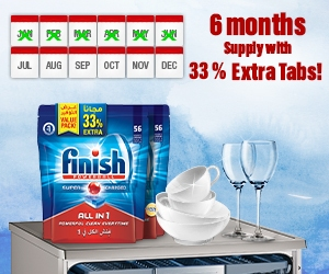 Finish - 6 months supply with 33% extra tabs!