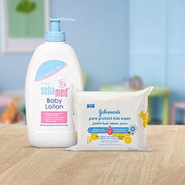 منتجات العناية ببشرة الأطفال