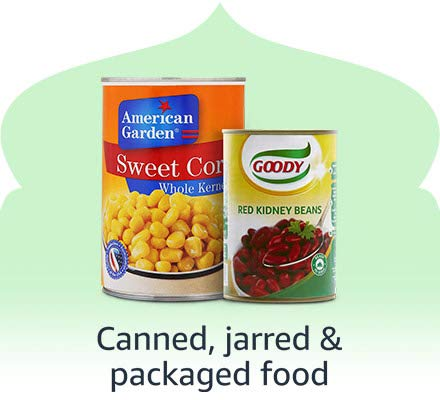 Canned, jarred & packed foods