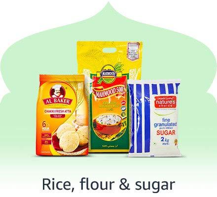Rice , flour & sugar