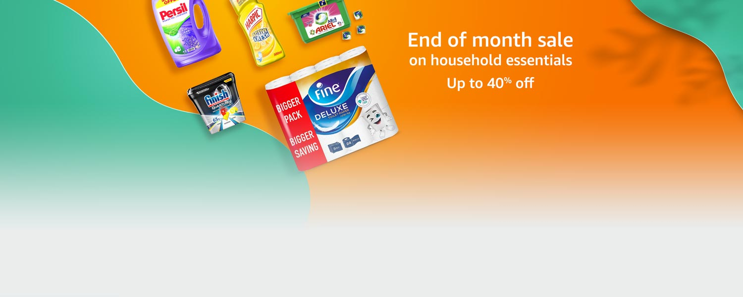 End of month sale on household essentials