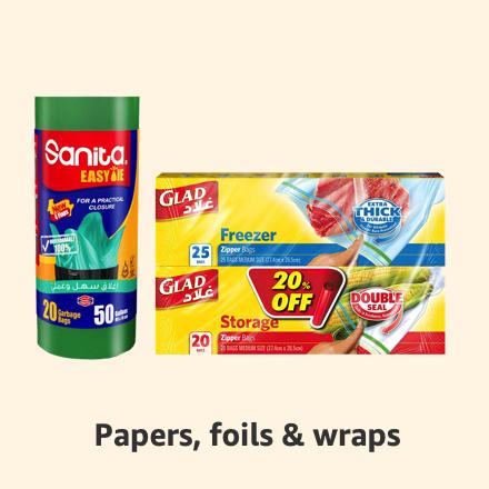 Papers, foils & wraps
