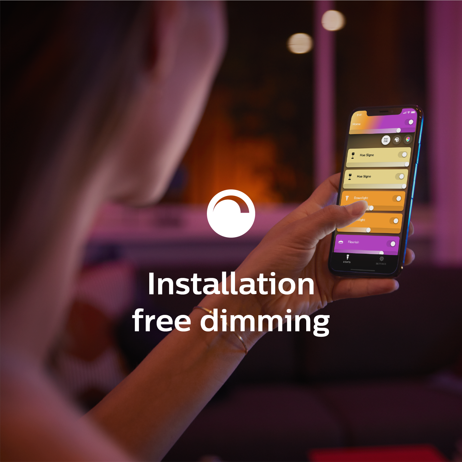 Installation free dimming