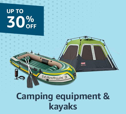 Camping equipment & kayaks