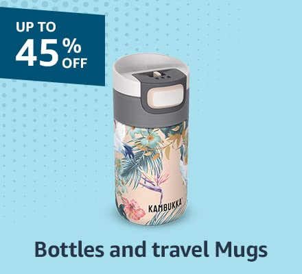 bottles and travel mugs