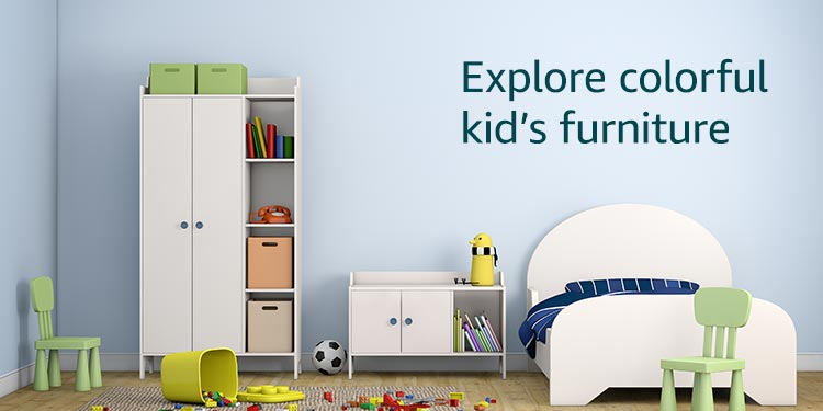 Explore colorful kid's furniture