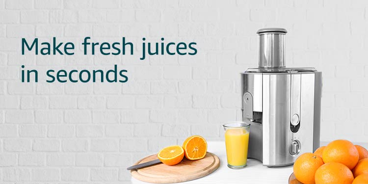 Make fresh and healthy juices in seconds
