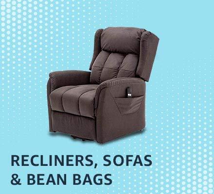 Recliners, single sofas & bean bags