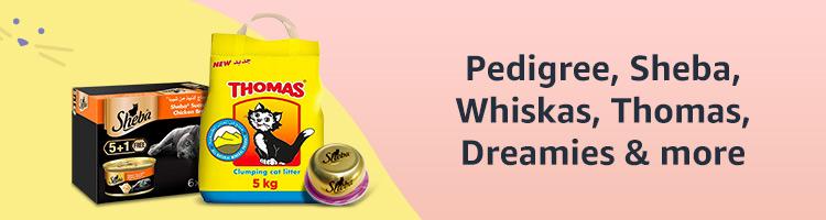 Pedigree, Sheba, Whiskas, Thomas, Dreamies & more