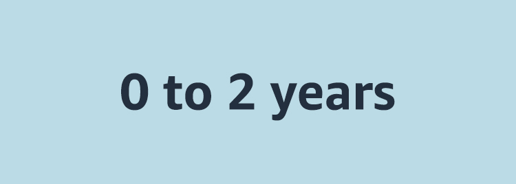 0 - 2 years