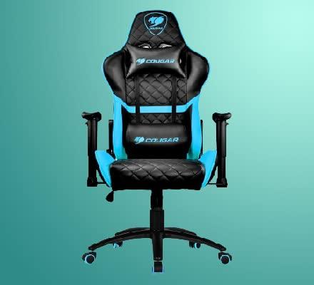 كرسي الالعاب من ارمور ون باللون الازرق