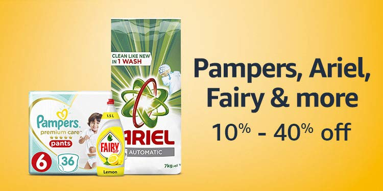 Pampers, Ariel, Fairy & more