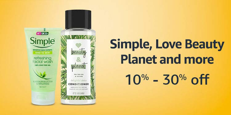 Simple, Love Beauty Planet and more