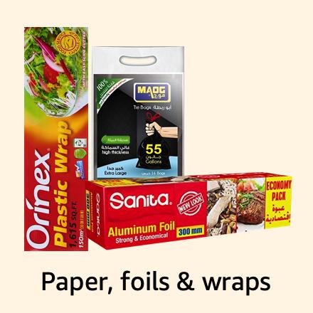 Paper, foils & wraps