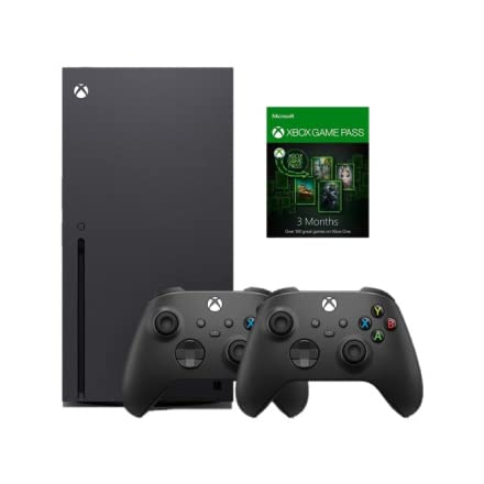 Xbox Series X with 2 controllers and Game Pass