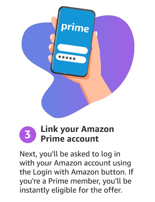step 3: link your Amazon Prime Account