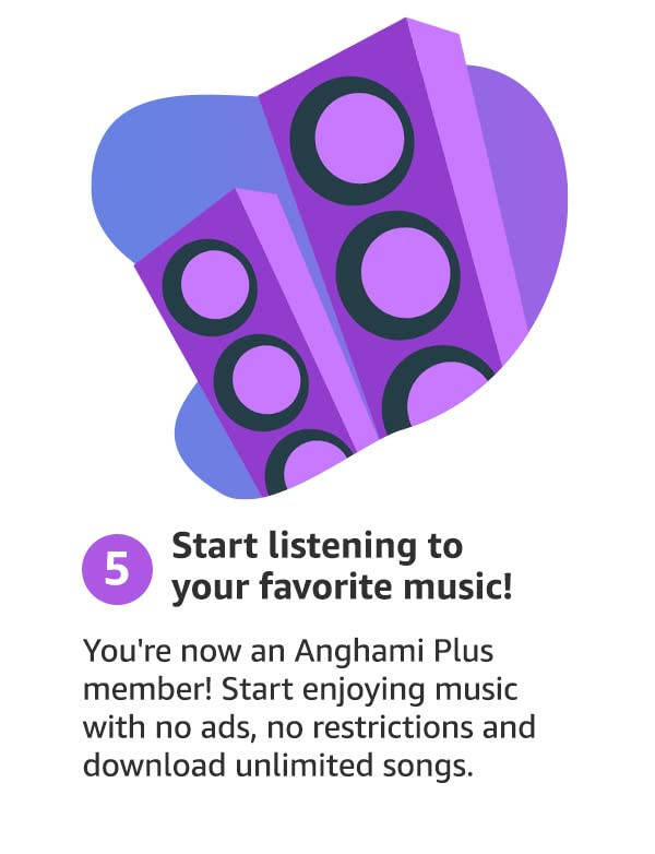 step 5: Start listening to your favorite music!