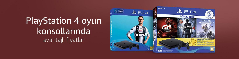 PS4 oyun konsollarında avantajlı fiyatlar