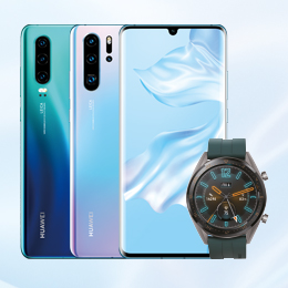 Huawei P30 veya P30 Pro alana Huawei Watch GT ve 3 aylık ekran garantisi hediye