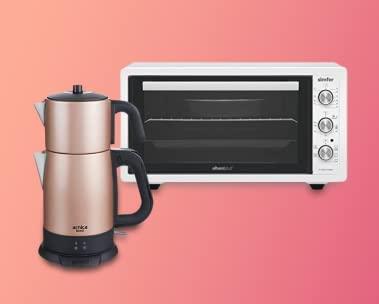 Mini fırın ve çay makinelerinde %30'a varan indirim
