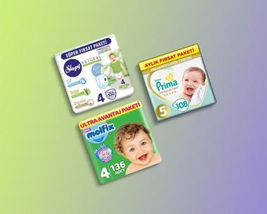 Bebek bezleri ve alt değiştirme ürünleri