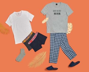 Erkek ev ve iç giyim ürünlerini keşfedin