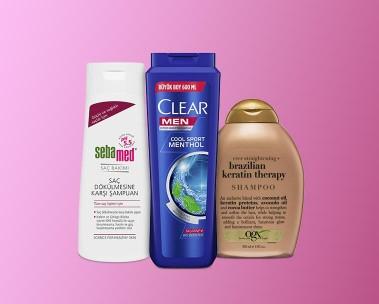 Saç bakımı için şampuanlar ve kremler