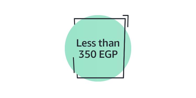 Less than 350