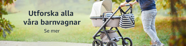 Barnvagnar, liggvagnar och tillbehör