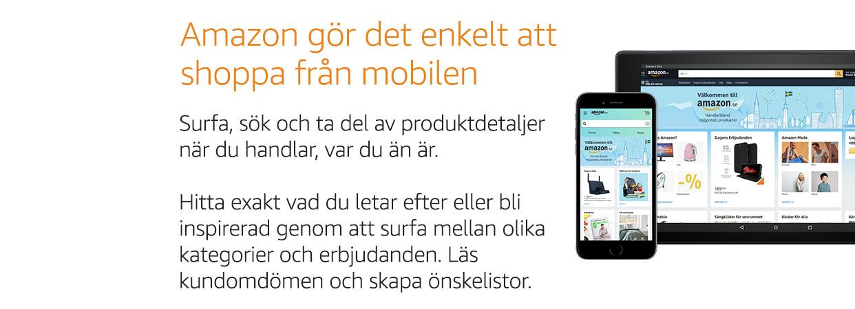 Amazon gör det enkelt att shoppa från mobilen