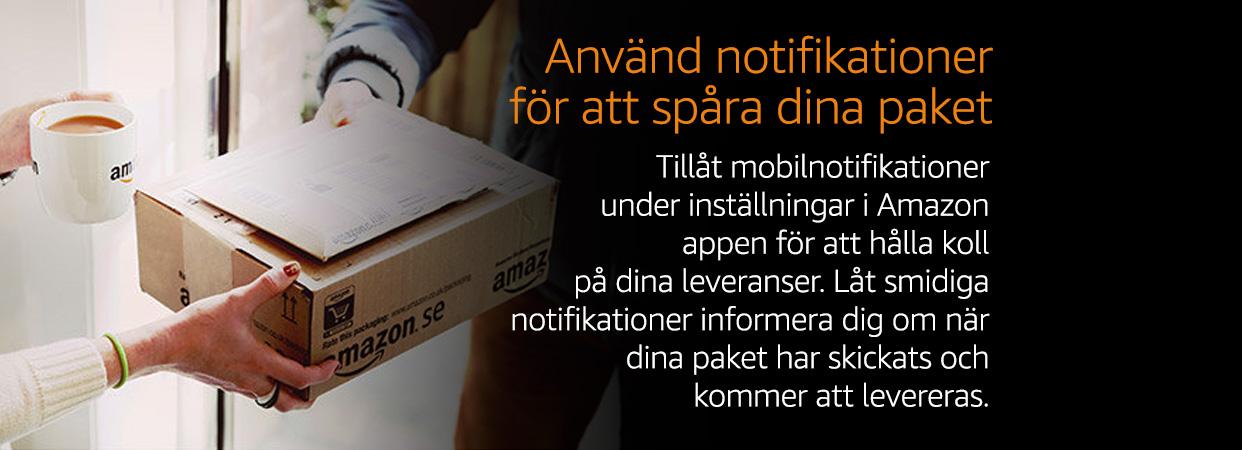 Använd notifikationer för att spåra dina pake