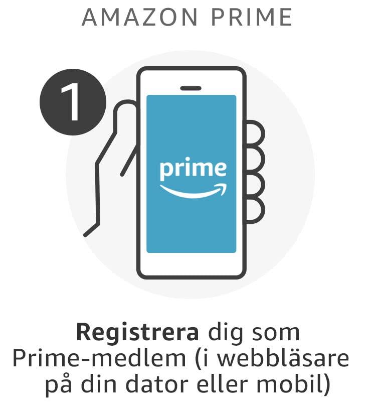 Registrera dig som Amazon Prime-medlem (i webbläsare på din dator eller mobil)
