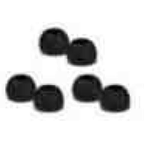 iRay - 6almohadillas de repuesto S/M/L de alta calidad para auriculares Sennheiser CX300 / cx300 ii / CX400 / CX500, MM50IP, Sony EX71 / EX81 , Phillips, Creative, Sharp, Panasonic, Skullcandy, Sony Ericsson Headsets, Denon, Griffin, ezGears y