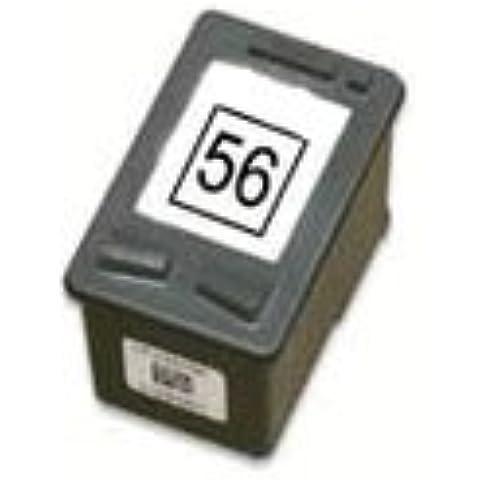 Cartucho de tinta compatible con HP 56 / C6656A, 22 ml, color negro